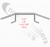 "05760401SPCL Keith Walking Floor V9 4mm Steel Flat top plank / slat (USA) 10.5"" slat centers. Splice in repair section"