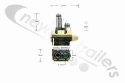 6520101 Keith Walking Floor® RFII Check Valve adapter block R2DX01 RFII Check Valve External Assembly w/Straight Connector R2DX01