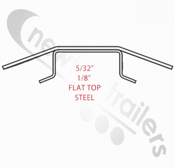 "5760402 Keith Walking Floor V9 Steel Flat top plank / slat (USA) 10.5"" slat centers."