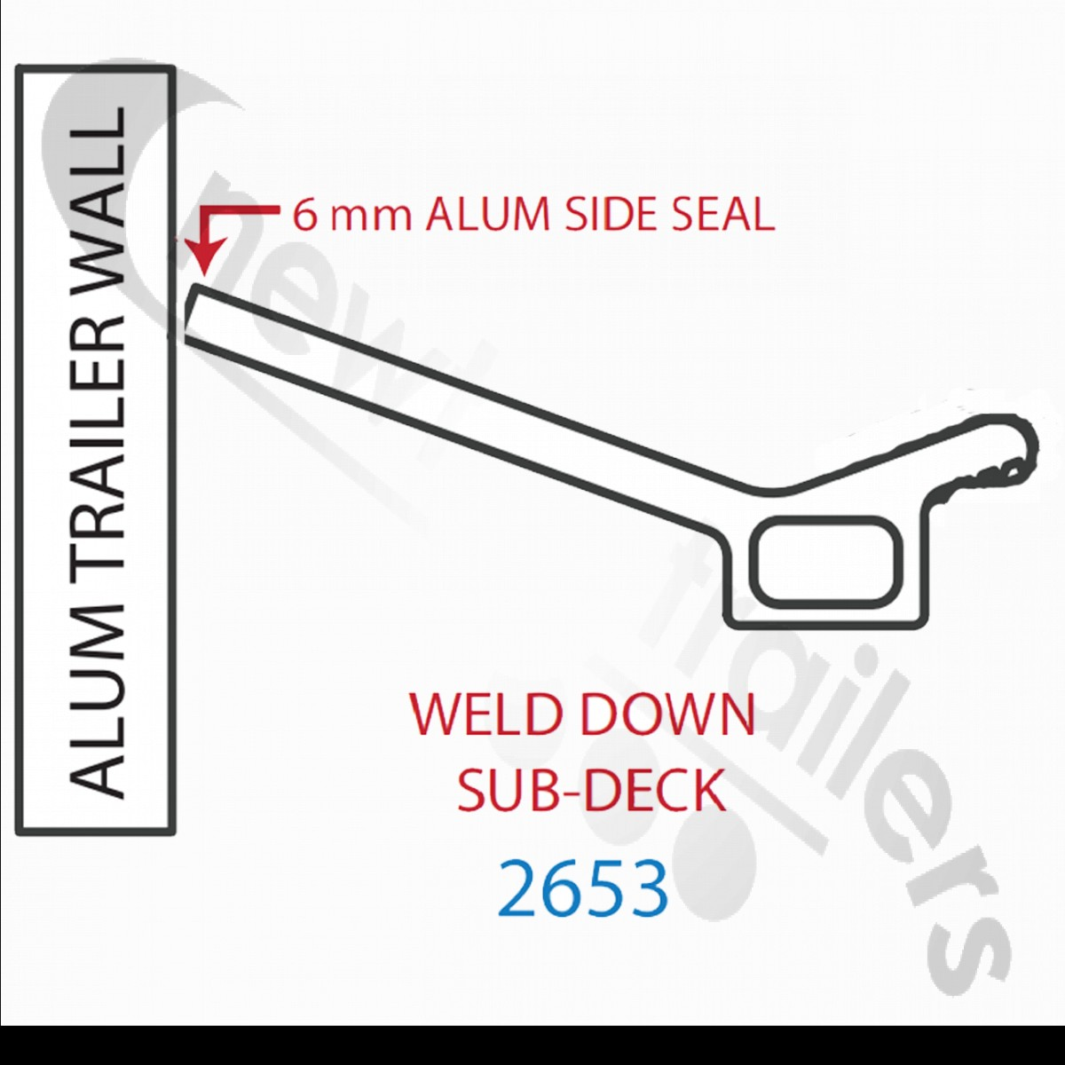 2653 Keith Walking Floor V18 Aluminium Sub Deck Side Seal 2653