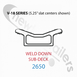 "2650 Keith Walking Floor V18 Aluminium Sub Deck Weld Down  2650 European for 5.25"" slat Center - per Meter"