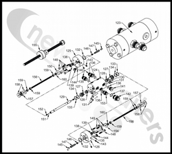 03869702 Keith Walking Floor Running Floor II Switching Valve Threaded Rod Assembly