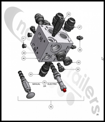 85101042 Keith Walking Floor® CleenSweep® (Clean Sweep) Flow Control Valve FREA-XAN 2.5GPM